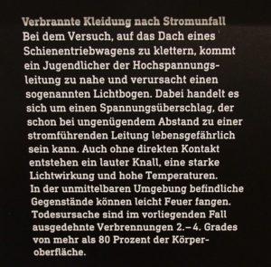 Begleiuttext zu Utensilien Strumunfalls, (c) Berliner Medizinhistorisches Museum der Charité
